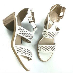 French Blu Laser Cut Sandals White Size 41